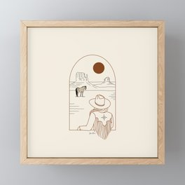 Lost Pony - Rustic Framed Mini Art Print