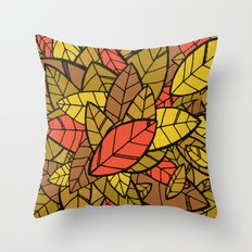 Autumn Memories (a pile of leaves) Throw Pillow