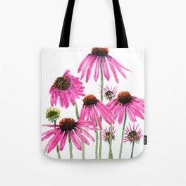 pink coneflowers watercolor Tote Bag