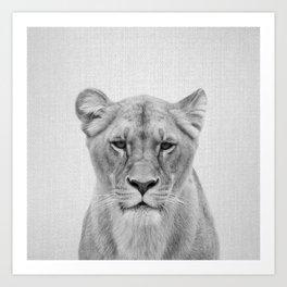 Lioness - Black & White Art Print