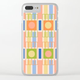 Geometric shapes in trendy colors Clear iPhone Case