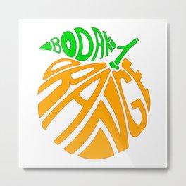 Bodak Orange Metal Print