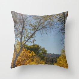 Fall and Cactus Throw Pillow