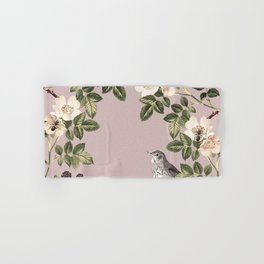 Birds and the Bees Pink Berry Hand & Bath Towel