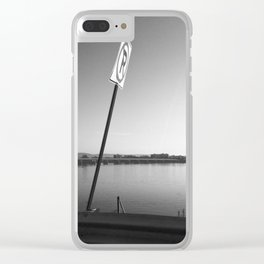 Pollution Permitted B&W Clear iPhone Case