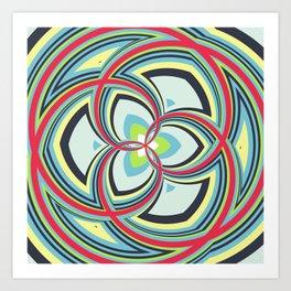 Spiral Rose Pattern A 3/4 Art Print