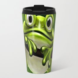 Adorable Funny Cute Green Frog In Tree Travel Mug