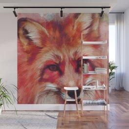 Red fox art #fox #animals Wall Mural