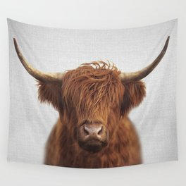 Highland Cow - Colorful Wall Tapestry