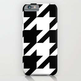 Big Houndstooth Pattern iPhone Case