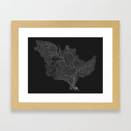 The Mississippi-Missouri-Ohio Basin Framed Art Print