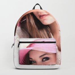 Fashion Illustration Pink Hat Close Up Backpack