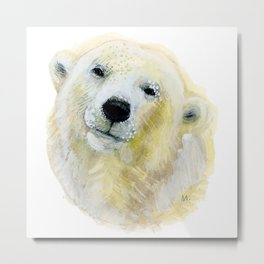 Polar Beary Metal Print