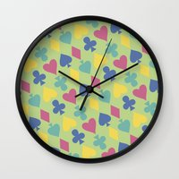 suits Wall Clocks featuring Suits by M. Noelle Studios