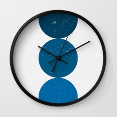 blue i 001 Wall Clock