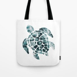 Sea Turtle - Turquoise Ocean Waves Tote Bag
