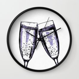Champagne wishes and caviar dreams Wall Clock