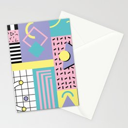 Memphis Pattern 27 - 80s - 90s Retro / 1st year anniversary design Stationery Cards