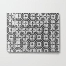 Hexagon window grille design Metal Print
