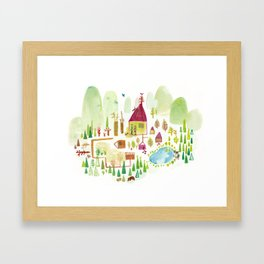 House in the Forest Framed Art Print
