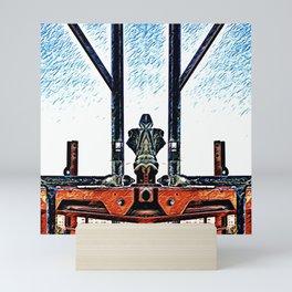 mirrored scaffolding Mini Art Print