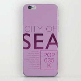 The City of Seattle iPhone Skin