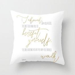 Isaiah 48:17 - Goldie Throw Pillow
