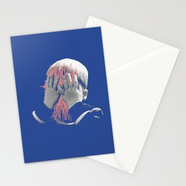 my face is a mess Stationery Cards
