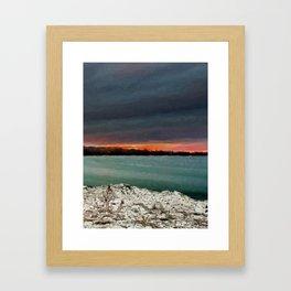 Sunset on the riverside Framed Art Print