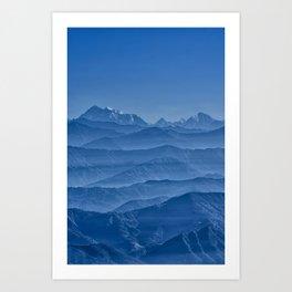 Blue Hima-layers Art Print