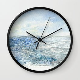Sparkling Moment In Time Watercolor Painting Wall Clock