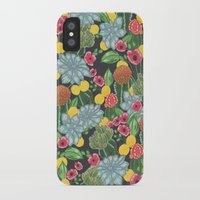 cacti iPhone & iPod Cases featuring cacti by Laura Solitrin