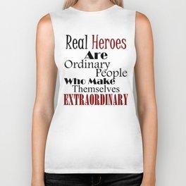 Real Heroes Extraordinary People Biker Tank