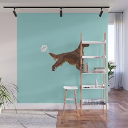 Irish Setter farting dog cute funny dog gifts pure breed dogs Wall Mural