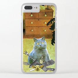 I had to get my own dinner handcut collage Clear iPhone Case