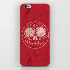 Distressed Sugar Skull iPhone & iPod Skin