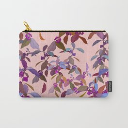 Beautyberry on Pink Carry-All Pouch