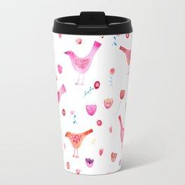 Birds and Blossoms Travel Mug