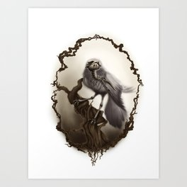 Corvus Cervus Lepus Series - Corax Art Print