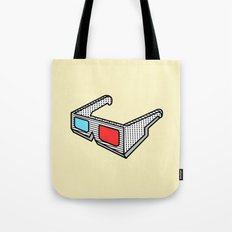 3d glasses Tote Bag