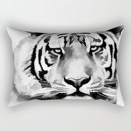 Tiger Black and white Rectangular Pillow