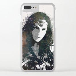 Galactic Wonder Gal Clear iPhone Case