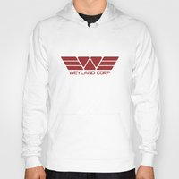 prometheus Hoodies featuring PROMETHEUS - Weyland Corp (2093 logo) by La Cantina