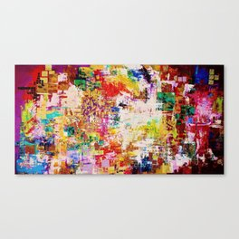 10 Hit Rainbow Canvas Print