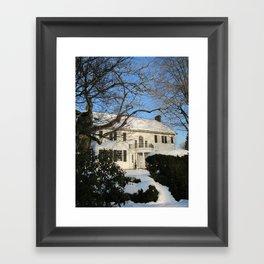 Snowy Home Framed Art Print