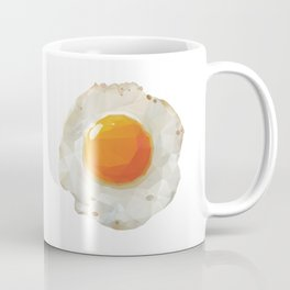Fried Egg Polygon Art Coffee Mug