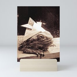 Paper Samurai, Bearded Dragon, Lizard Mini Art Print