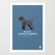 Black Russian Terrier Art Print