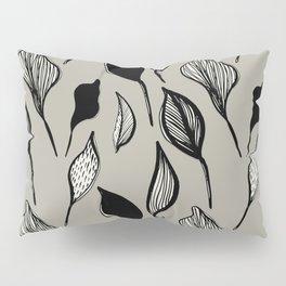 Leaf Botanical in Stone Pillow Sham
