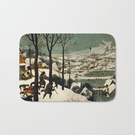 The Hunters in the Snow - Pieter Bruegel the Elder Bath Mat